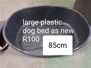 Large plastic dog bed for sale