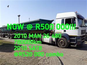 2010 MAN 26 480 & 2010 SATB combo