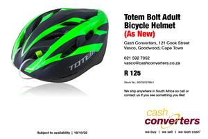 Totem Bolt Adult Bicycle Helmet (As New)