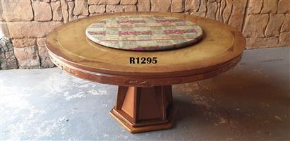 Classic Dining Table with Lazy Susan (D1525 H 785)