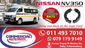 Brake Shoes For Nissan NV350 Impendulo For Sale.