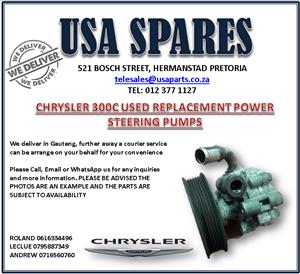 CHRYSLER 300C USED REPLACEMENT POWER STEERING PUMPS