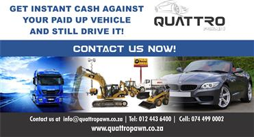 Pawn your vehicle and get READY TO GET CASH AGAINST YOUR ASSETS?
