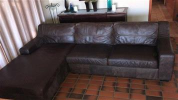 CORICRAFT LEAHTER CALEB 3 SEATER & 2 SEATER COUCHES. HOWICK WHISKEY COLOUR. BRAND NEW, NOT USED.