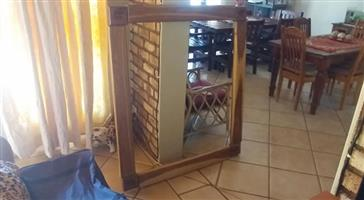 Wooden framed mirror for sale