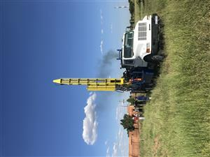 Borehole water drilling rig