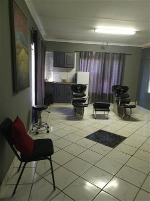Previously used as beauty and hair salon.   Can be rented as 2 bedroom house. No business rights.