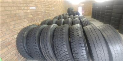 GOOD SECOND HAND TRUCK TYRES,GOOD DISCOUNTS OFFERED,GUARANTEED