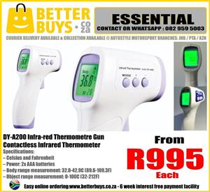 Digital Body Infrared Thermometer Gun contactless thermometre This thermometer is directed (without touching / contactless) to the body part  (usually the forehead), and the measurement results are directly displayed in  less than 1 second.