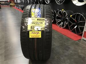 19 inch tyres tire 255-35-19 Accelera brand new