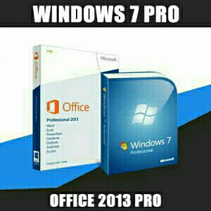 Windows 7 pro and office 2013 pro