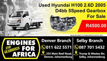 Used Hyundai H100 2.6D 2005 D4bb 5Speed For Sale Gearbox