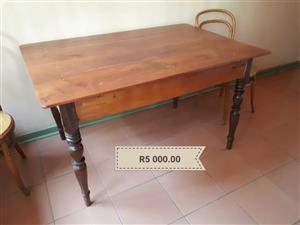 Antique refurbished wooden table