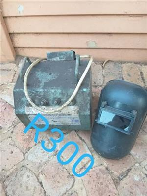 Welding machine with helmet for sale