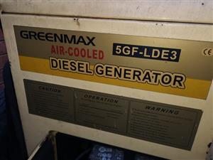 6.5 kva diesel generator with trailer