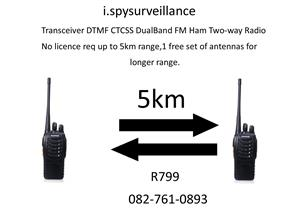A Walkie talkie set,long range. (up to 5km)