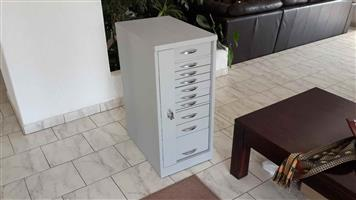 Lockable steel chest for drawers for papers / stationary / tools etc for sale