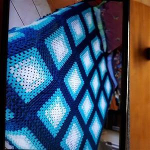 Beautiful crochet wool blankets