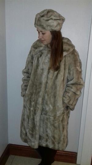 Vintage woman's faux fur coat