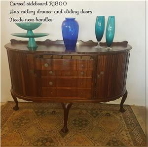 Curved sideboard for sale