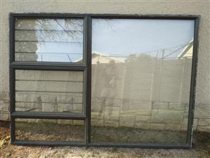 Bronze Aluminium Window Frame 2 Vent