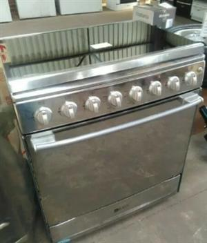 6 Burner Stainless Steel Gas Stove - New