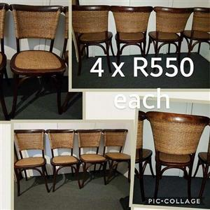 WOODEN WOVEN CHAIRS FOR SALE