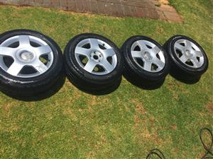 Audi a3 rims and tyres 205/55 R16 60%thread left