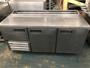 2.5 Pizza top-s/steel door-underbar fridge-PTUBFSS25