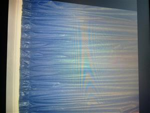2X Lined Royal blue Chintz curtains.Curtains .Length plus minus 2.4m