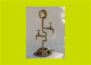Large Pressure Gauge Steampunk Table Lamp(SKU 55)
