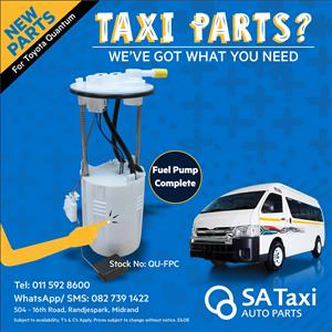 New 2.7 VVTI Fuel Pump and Housing Complete suitable for Toyota Quantum - SA Taxi Auto Parts