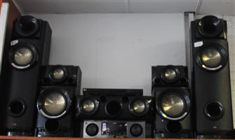 L.g av receiver system with dvd player and remote S030970A #Rosettenvillepawnshop