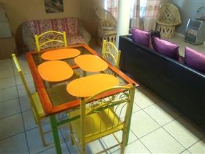 Green 4 seater dining set