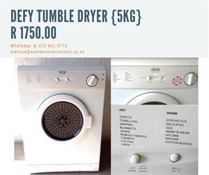 5 KG DEFY TUMBLE DRYER FOR SALE