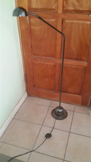 Floor standing bronzed metal finish standard light excellent condition 2nd silver one also available