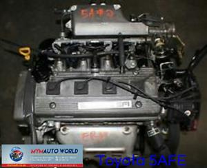 Imported used  TOYOTA COROLLA 1.5L EFI, 5AFE engine Complete
