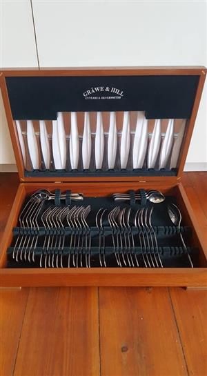 Grawe & Hill Silver Cutlery Set- 50 pieces from original 58 set
