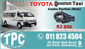 Toyota Quantum Centre Portion - New - Quality Replacement Spare Taxi Parts.