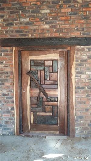Solid sleeper wood doors