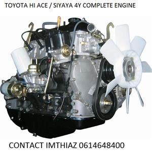 TOYOTA HI ACE/ SIYAYA 4Y COMPLETE ENGINE (BRAND NEW)