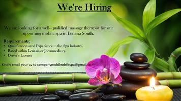 Massage Therapist Vacancy