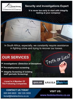Lionel Strong Lie detection and screening