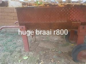 Huge rusted braai