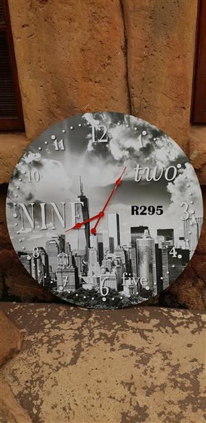 Nine to Five Wall Clock (D 600mm)