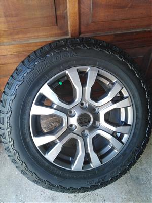 One Ford Ranger Wildtrak latest 18 inch Spare Wheel with Sensor and 90% tread Hankook Tyre R3950