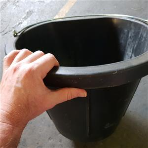 Feed Bins and Buckets For Horses and Livestock.