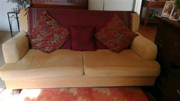 2 Seater beige couch