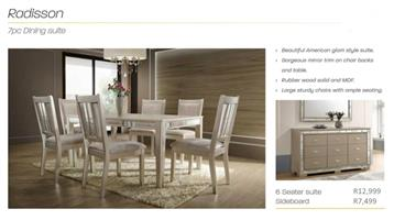 PERILLI Radisson Dining Set