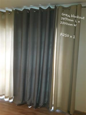 Beige and grey curtains for sale